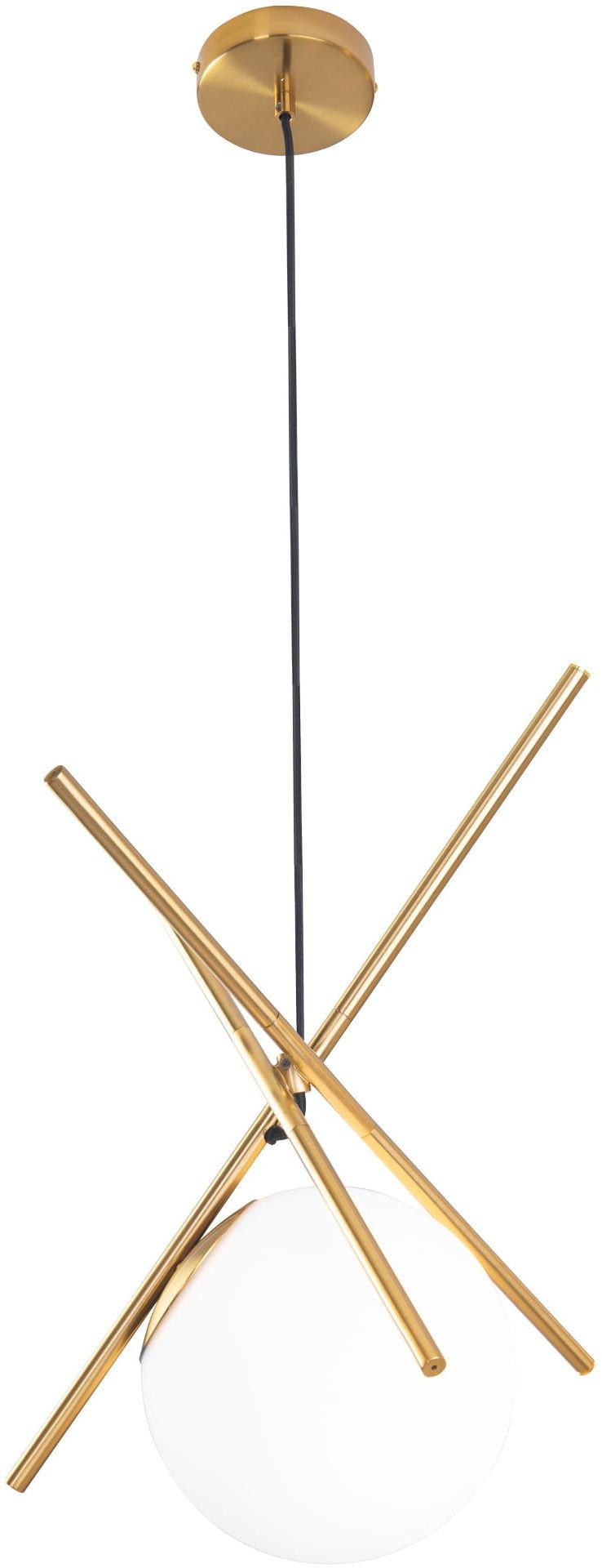 Lampa wisząca XENA P0403 MAXlight nowoczesna oprawa w kolorze mosiądzu