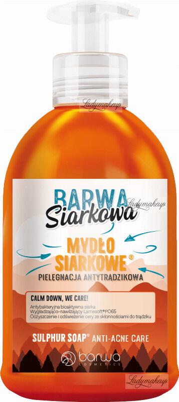 BARWA - BARWA SIARKOWA - SULPHURIC ANTI-ACNE SOAP - Antytrądzikowe Mydło Siarkowe w Płynie
