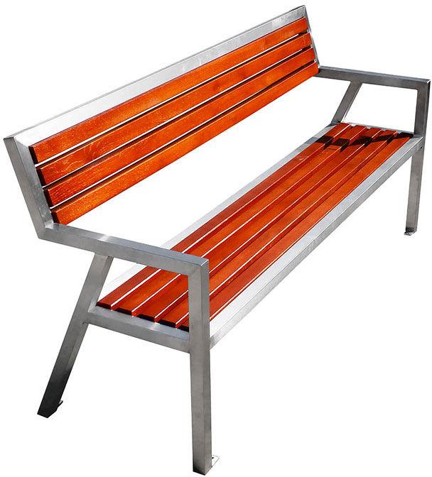 Nowoczesna drewniana ławka parkowa Atena 150 cm - 84 kolory