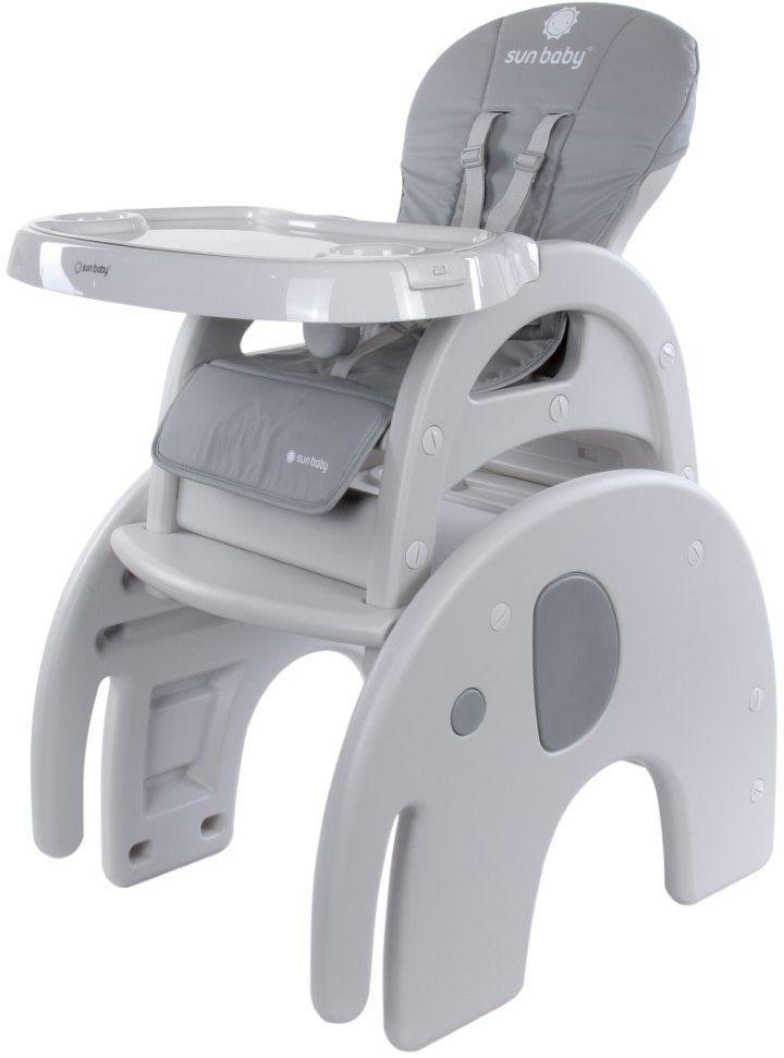 Krzesełko do karmienia 2w1 słonik szary Sun Baby