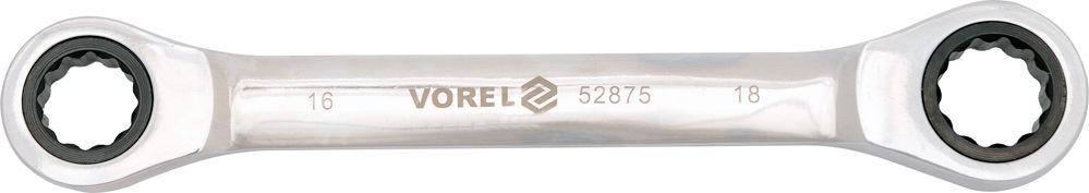 52875 Klucz oczkowy z grzechotką 16x18 mm