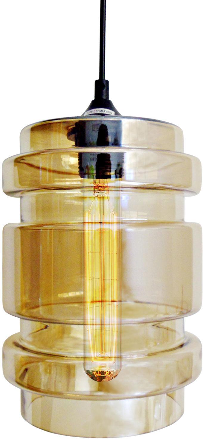 Candellux DECORADO 31-36643 lampa wisząca szklany klosz barwiony bursztynowy 1X60W E27 17 cm