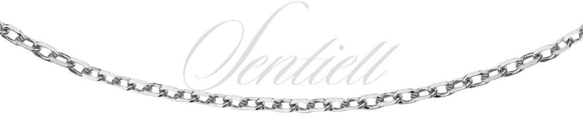 Łańcuszek srebrny 925 rolo diamentowany, rodowany