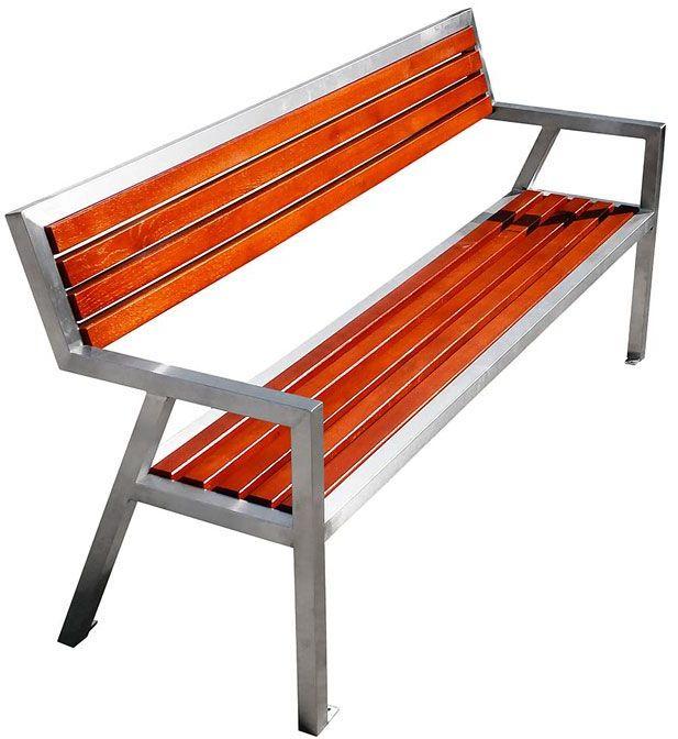 Nowoczesna ławka parkowa Atena 180 cm - 84 kolory