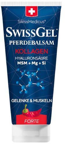 SwissGel Końska maść z kolagenem morskim forte rozgrzewająca 200 ml