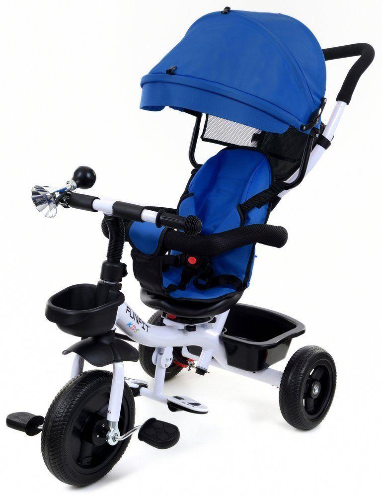 Rowerek trójkołowy FUN FIT KIDS TWIST /niebieski/