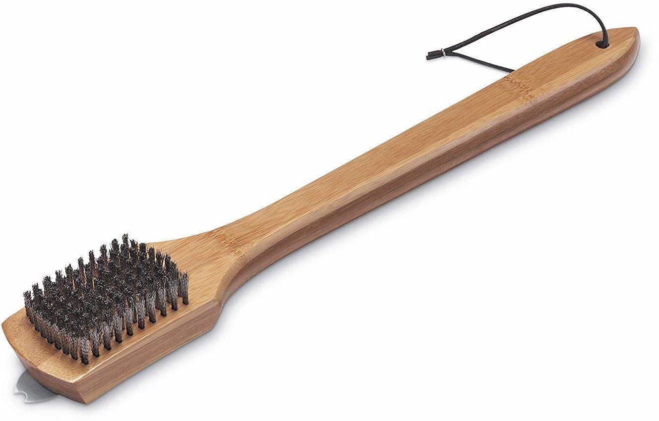 Szczotka do czyszczenia rusztu z bambusową rączką, 46 cm Weber (6464) --- CERTYFIKOWANY PARTNER Weber WORLD