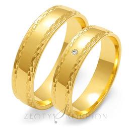 Obrączki ślubne Złoty Skorpion  wzór Au-O104