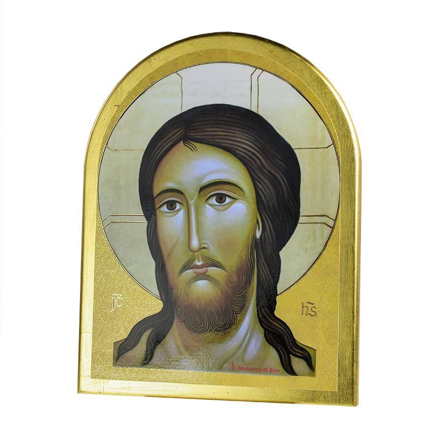 Ikona włoska z wizerunkiem twarzy Jezusa