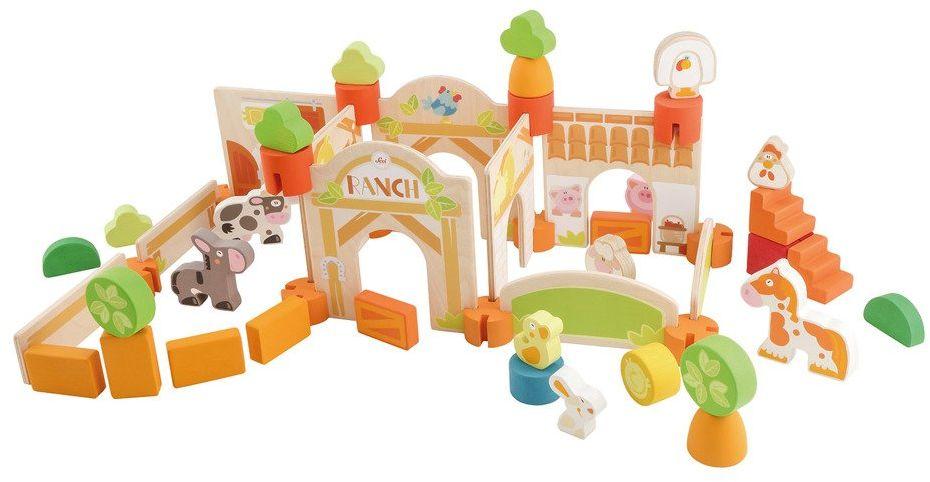 Zabawki kreatywne Zwierzęca farma 83063-Sevi, klocki konstrukcyjne