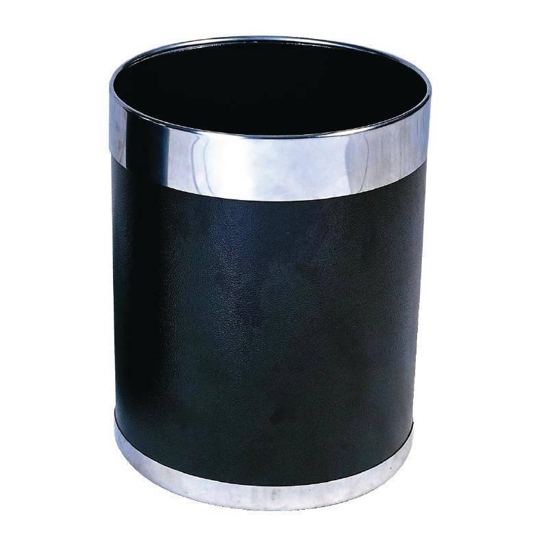 Kosz na śmieci czarny 22,4(Ø)x(H)28cm