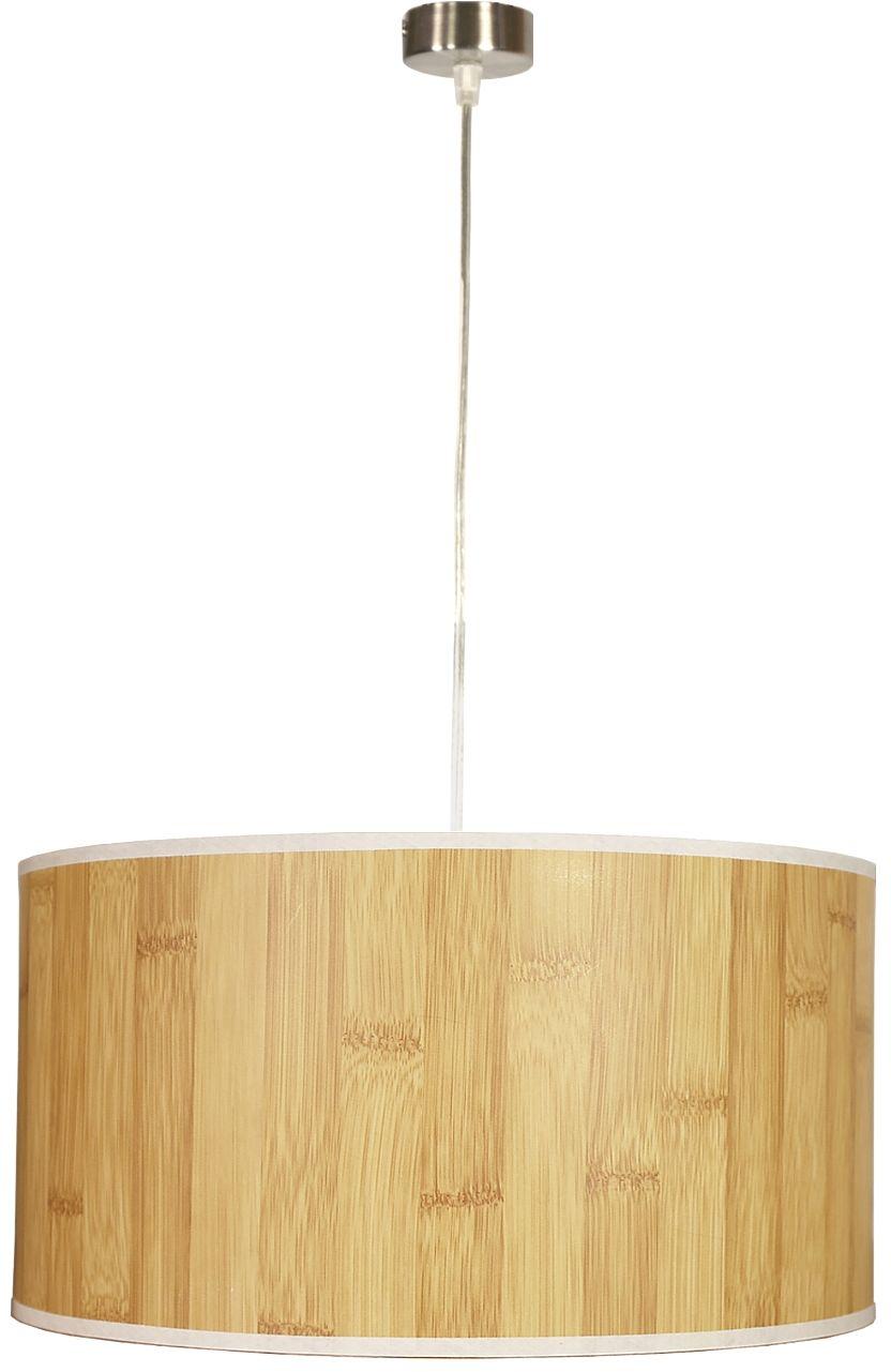 Candellux TIMBER 31-56699 lampa wisząca abażur z tworzywa o fakturze drewna 1X60W E27 SOSNA 40 cm