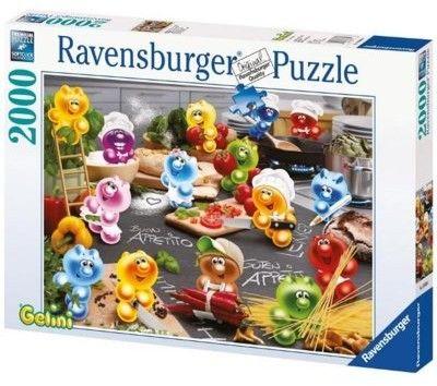 Puzzle Ravensburger 2000 - Pasjonaci kuchni, Kitchen enthusiasts