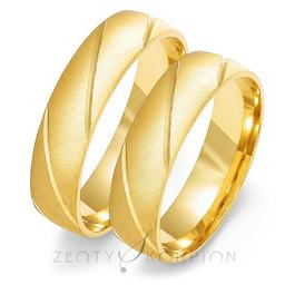 Obrączki ślubne Złoty Skorpion  wzór Au-O105