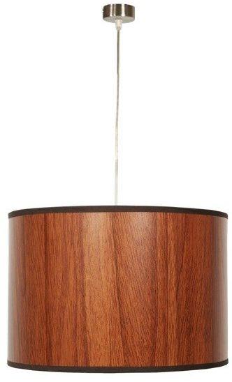 Candellux TIMBER 31-56743 lampa wisząca abażur z tworzywa o fakturze drewna1X60W E27 30X20