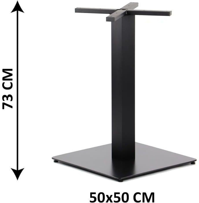 Podstawa stolika SH-5002-6/B, 50x50 cm (stelaż stolika), kolor czarny