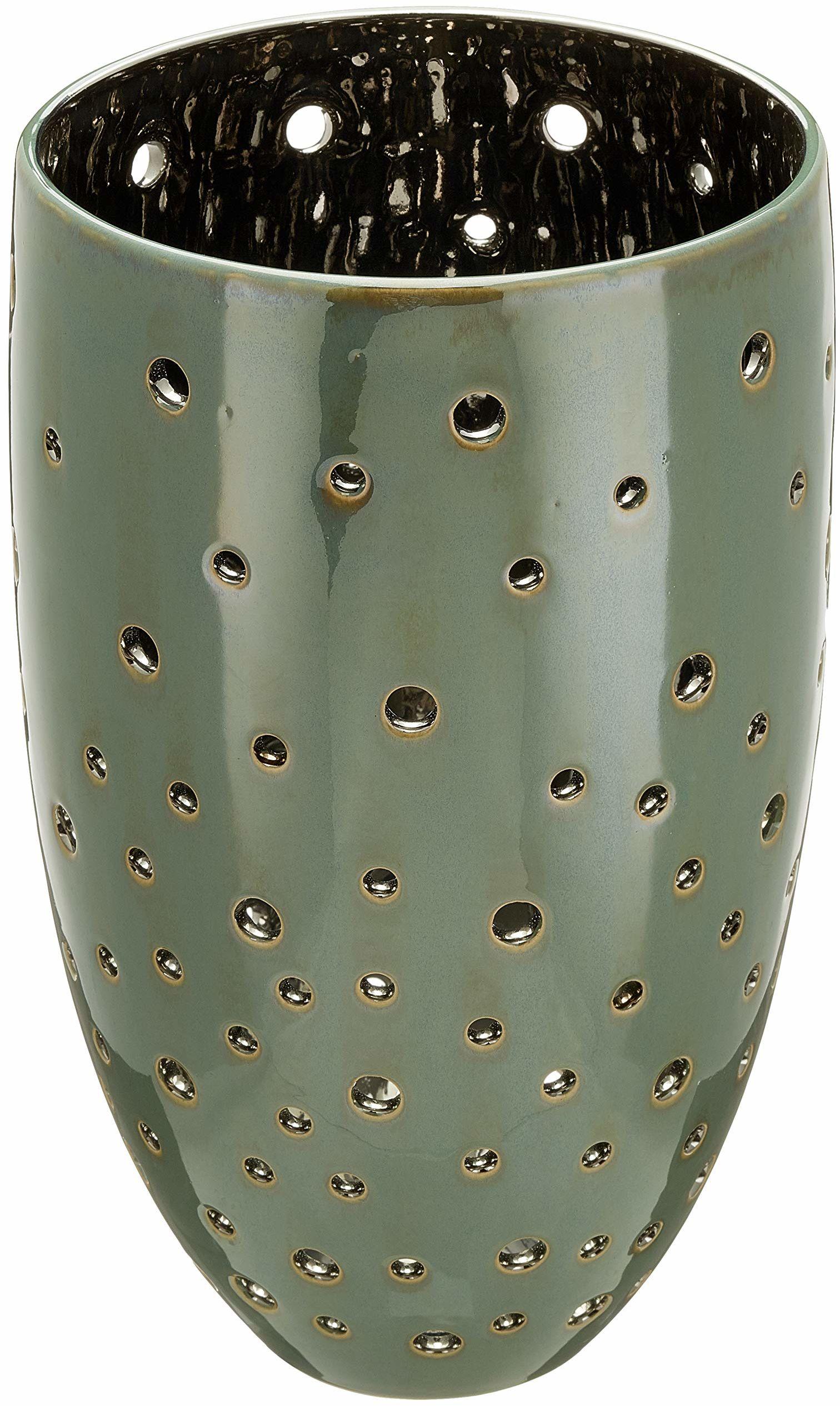 Fink TABITA świecznik ceramiczny, zielony, 17,5 cm