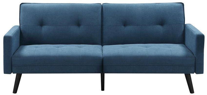 Sofa rozkładana z funkcją narożnika CORNER niebieska Halmar