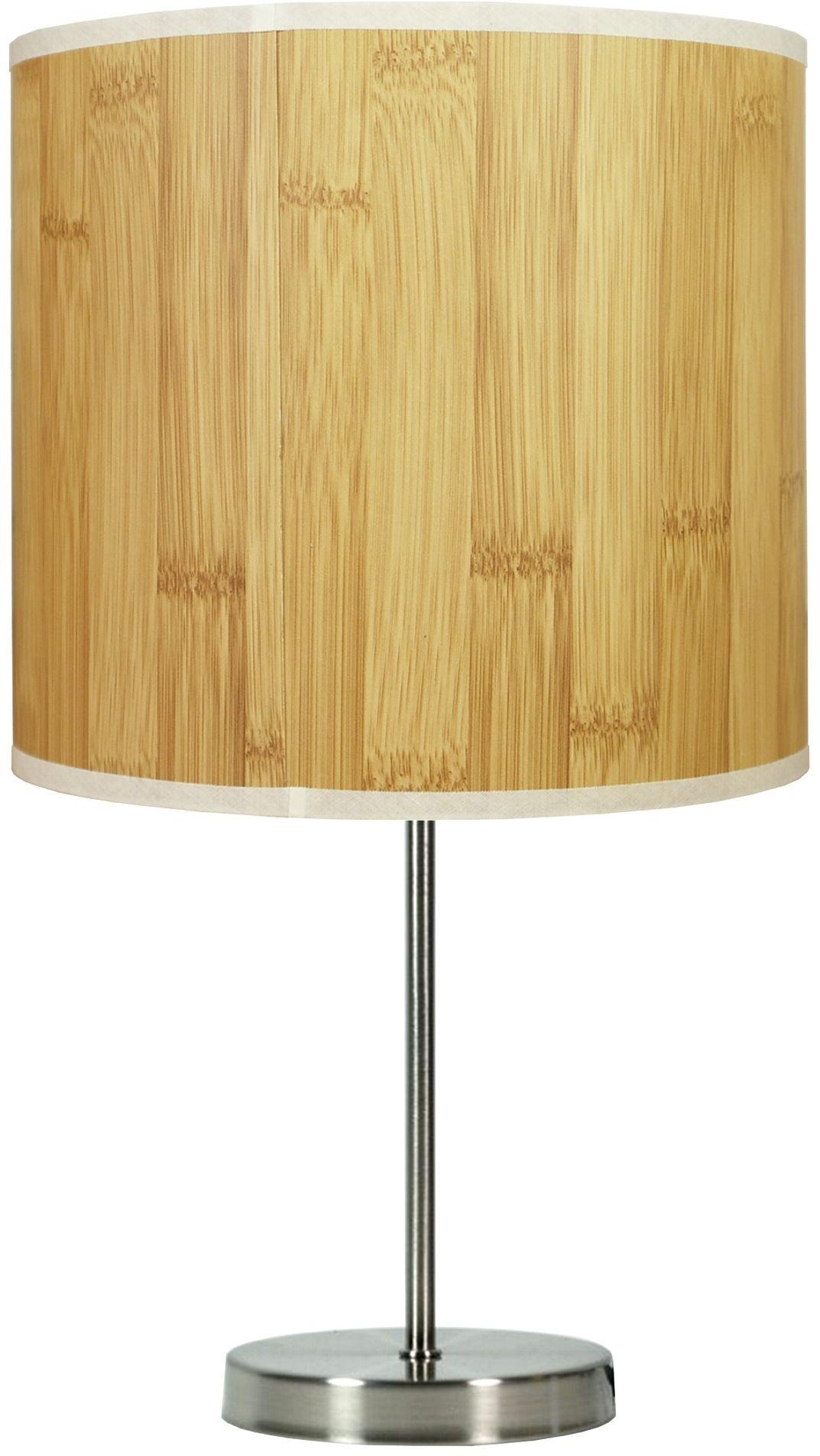 Candellux TIMBER 41-56712 lampa stołowa abażur z tworzywa o fakturze drewna 1X60W E27 20 cm