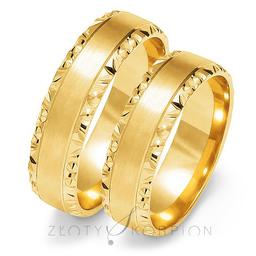 Obrączki ślubne Złoty Skorpion  wzór Au-O106