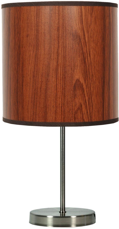 Candellux TIMBER 41-56750 lampa stołowa abażur z tworzywa o fakturze drewna 1X60W E27 20 cm