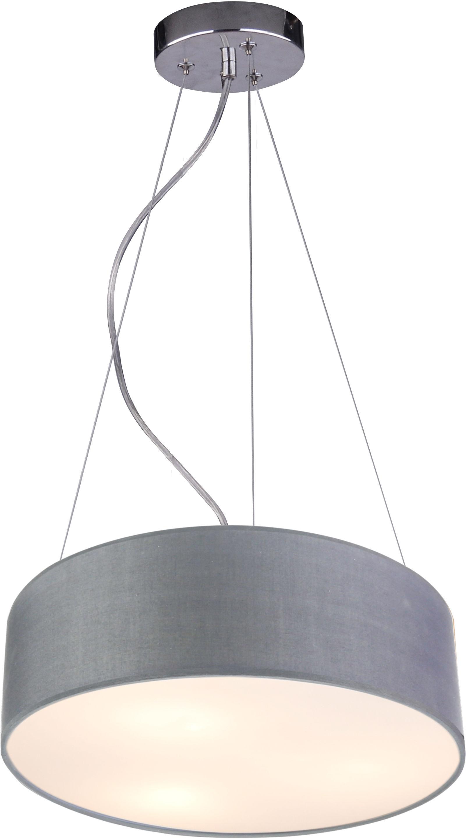 Candellux KIOTO 31-67722 lampa wisząca 3x40W E27 abażur jasno szary 40cm