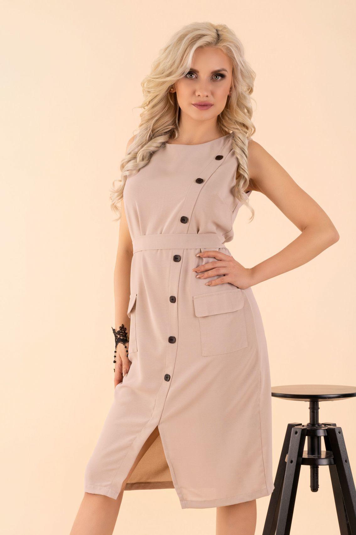 Eqalisa Beige D55 sukienka
