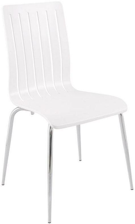Kokoon design - krzesło drewniane stricto - białe