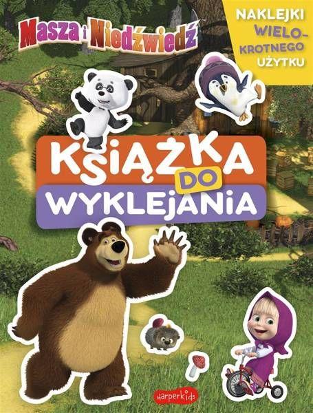 Masza i Niedźwiedź. Książka do wyklejania