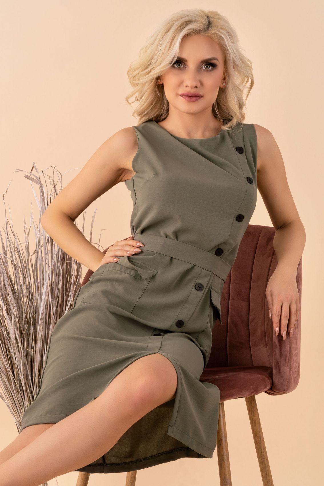 Eqalisa Khaki D55 sukienka
