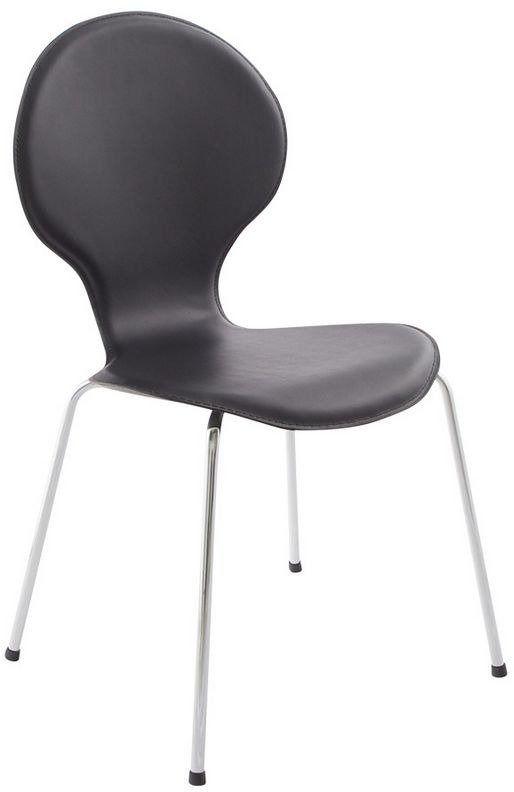 Kokoon design - krzesło skórzane vlind - czarne