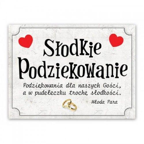 Etykieta na ciasto weselne, podziękowanie dla gości, Ślub Na Wesoło 25 szt.