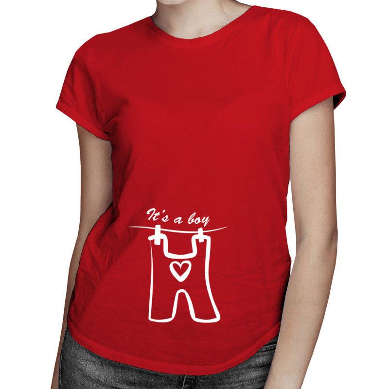It''s a boy - damska koszulka z nadrukiem