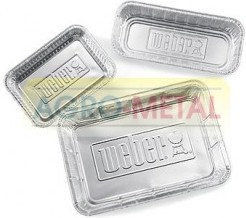 Aluminiowe miski - tacki ociekowe XL Weber, 5 szt. (6454) --- CERTYFIKOWANY PARTNER Weber WORLD
