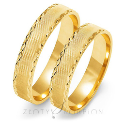 Obrączki ślubne Złoty Skorpion  wzór Au-O107