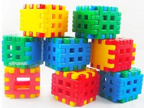 Klocki konstrukcyjne wafle 48 elementów Adusia CZAKO 025739