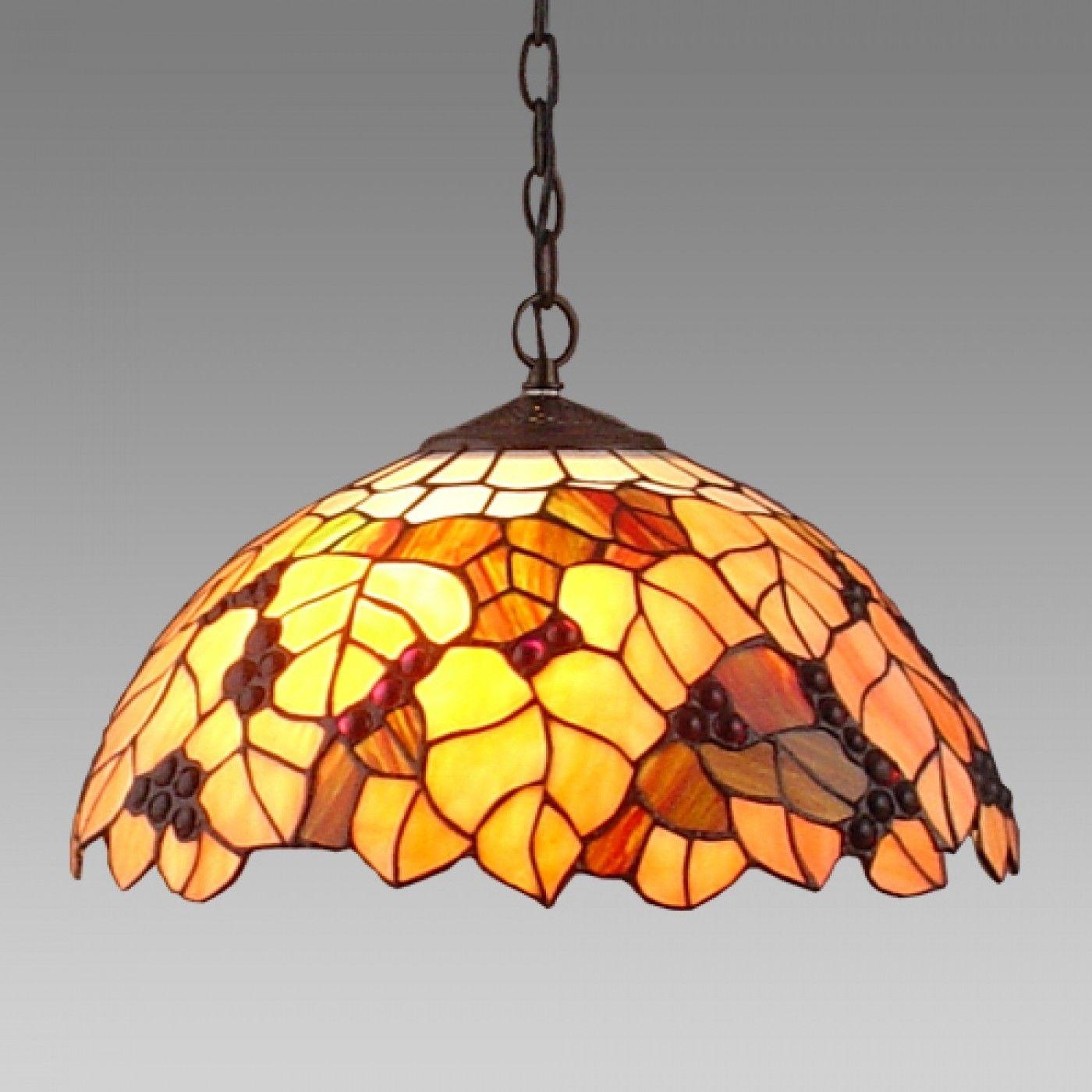 Lampa wisząca witrażowa TIFFANY 2X60W E27 59 PREZENT
