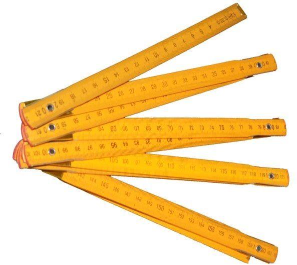 Calówka drewniana składana 2 m - miarka