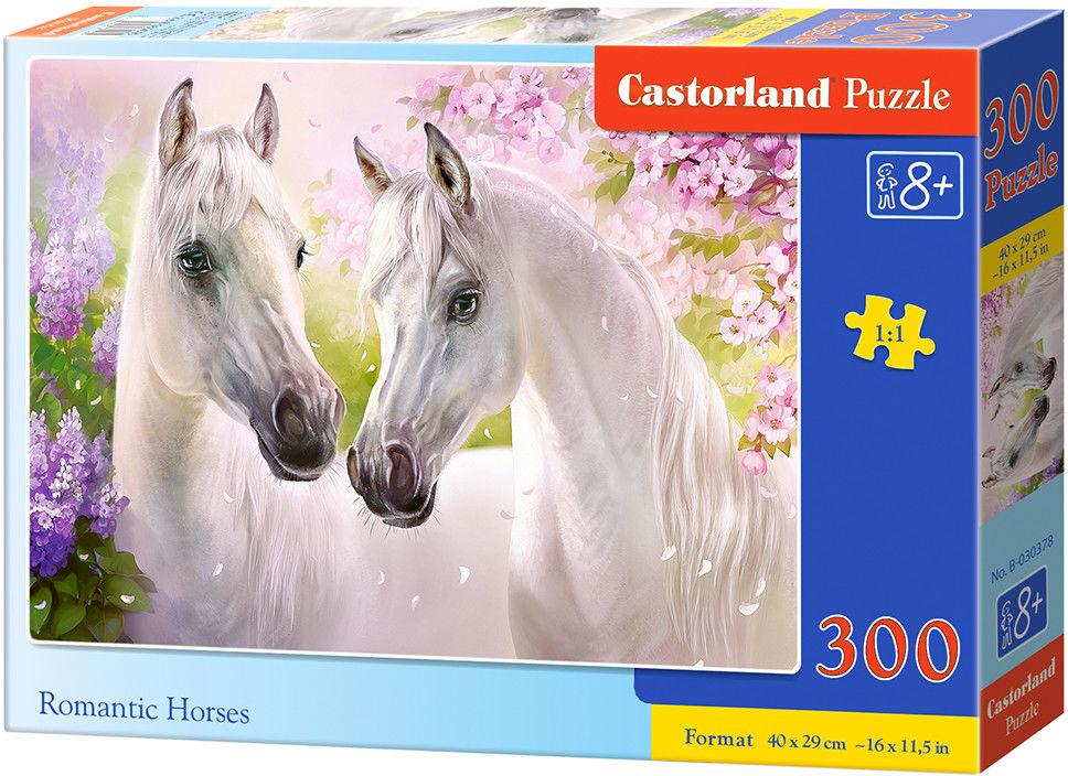 Puzzle Castor 300 - Romantyczne konie, Romantic Horses