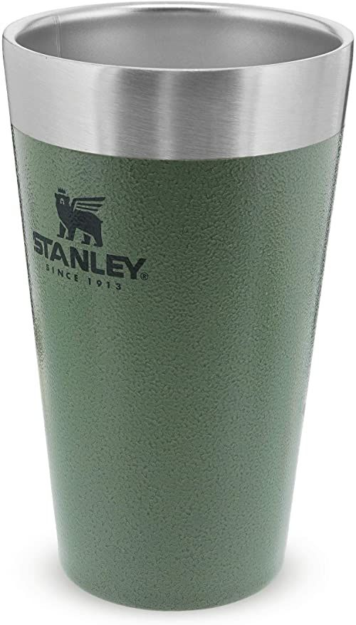 Stanley Adventure Stacking Beer Pint 0.47L / 16OZ Hammertone Green  Utrzymuje zimne piwo przez 4 godziny - Kufel do piwa ze Stali Nierdzewnej - Podwójne ścianki z izolacją próżniową