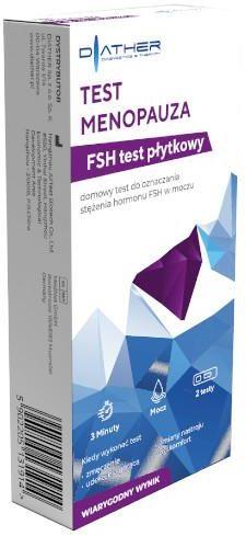 Diather Test Menopauza domowy test płytkowy do oznaczenia stężenia hormonu FSH w moczu 2 testy