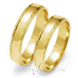 Obrączki ślubne Złoty Skorpion  wzór Au-O108