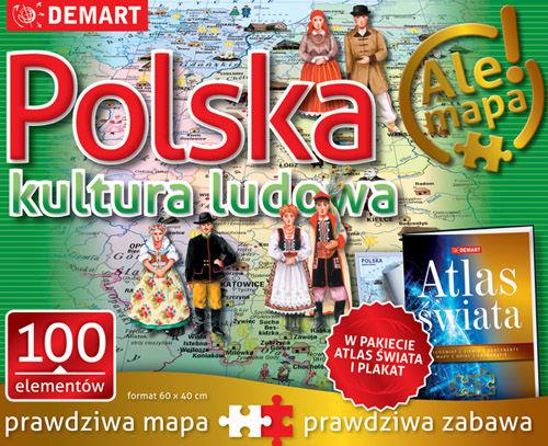 PUZZLE 100 POLSKA KULTURA LUDOWA + ATLAS