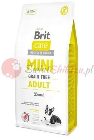 Brit Care Mini Grain Free Adult Jagnięcina 2kg