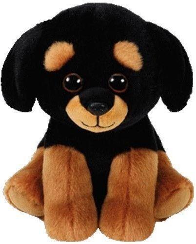 TY Pupilki Beanie Babies Trevour Rottweiler 15cm