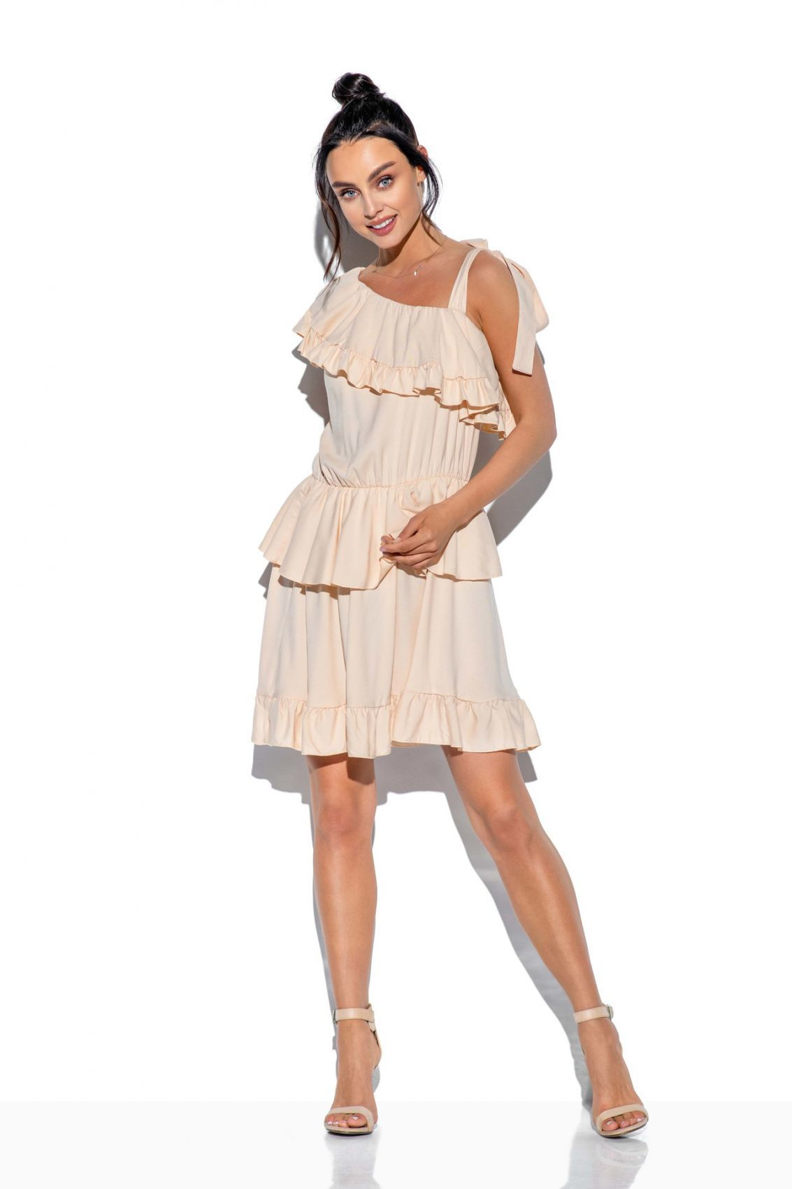 1 Sukienka L336 beżowy PROMO