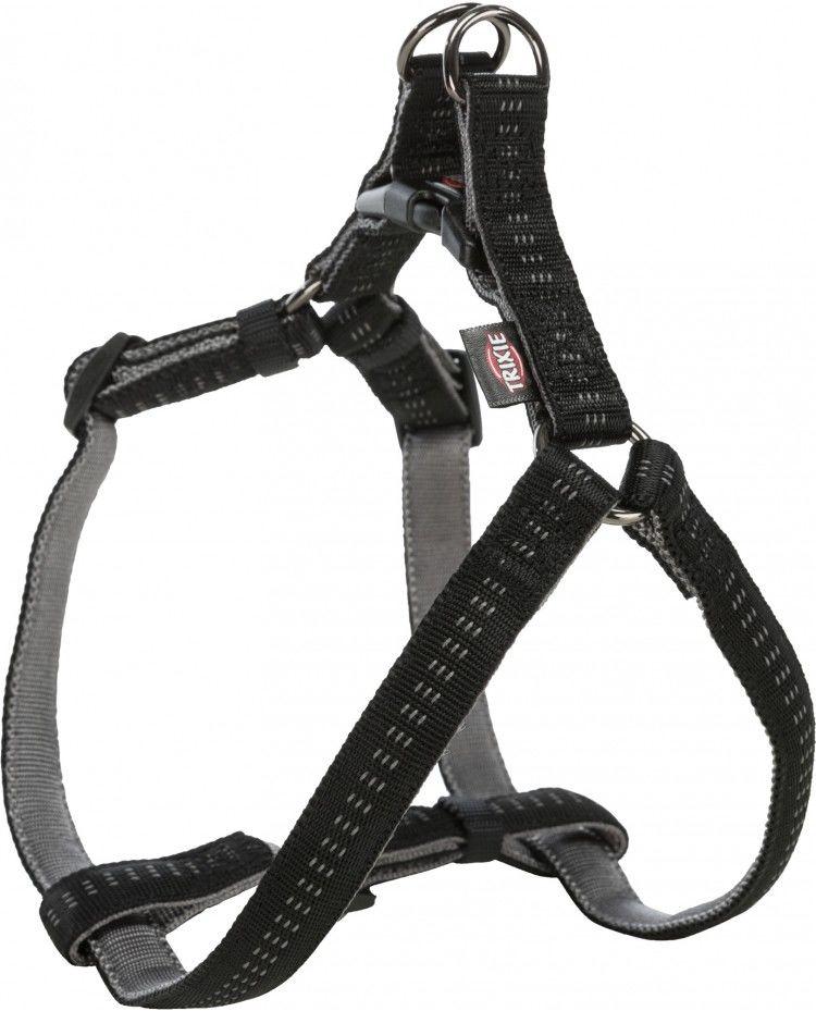 Softline Elegance szelki, dla psa, czarne/grafitowe, M: 50 65 cm/20 mm