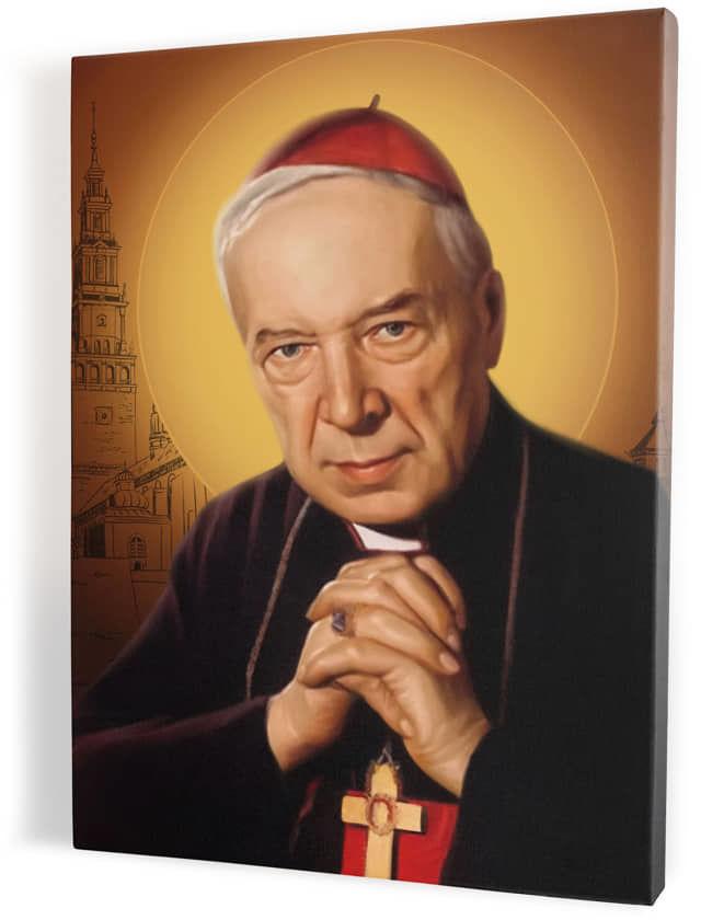 Kard. Stefan Wyszyński, obraz religijny na płótnie