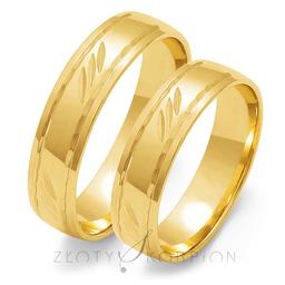 Obrączki ślubne Złoty Skorpion  wzór Au-O109