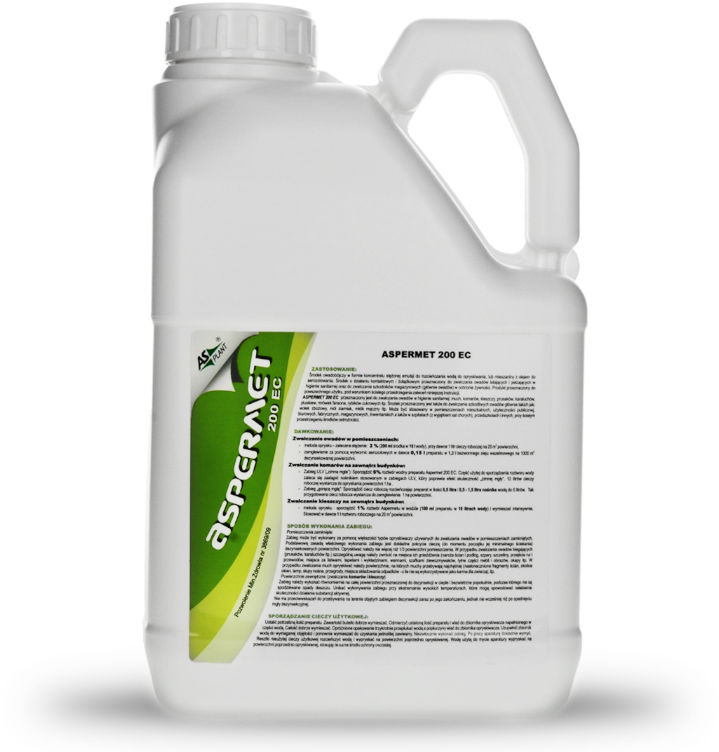 Aspermet 200 EC 5l Permetryna. Oprysk na komary, kleszcze, muchy, pluskwy.